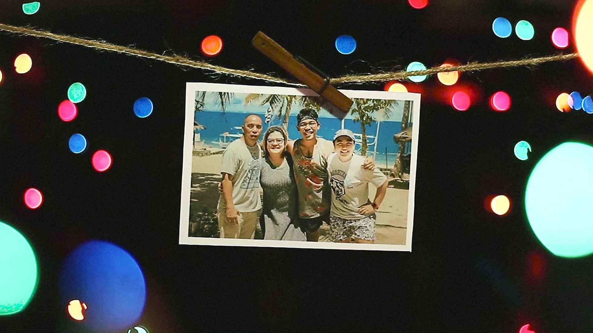 A photo of Drama Del Rosario and his family.