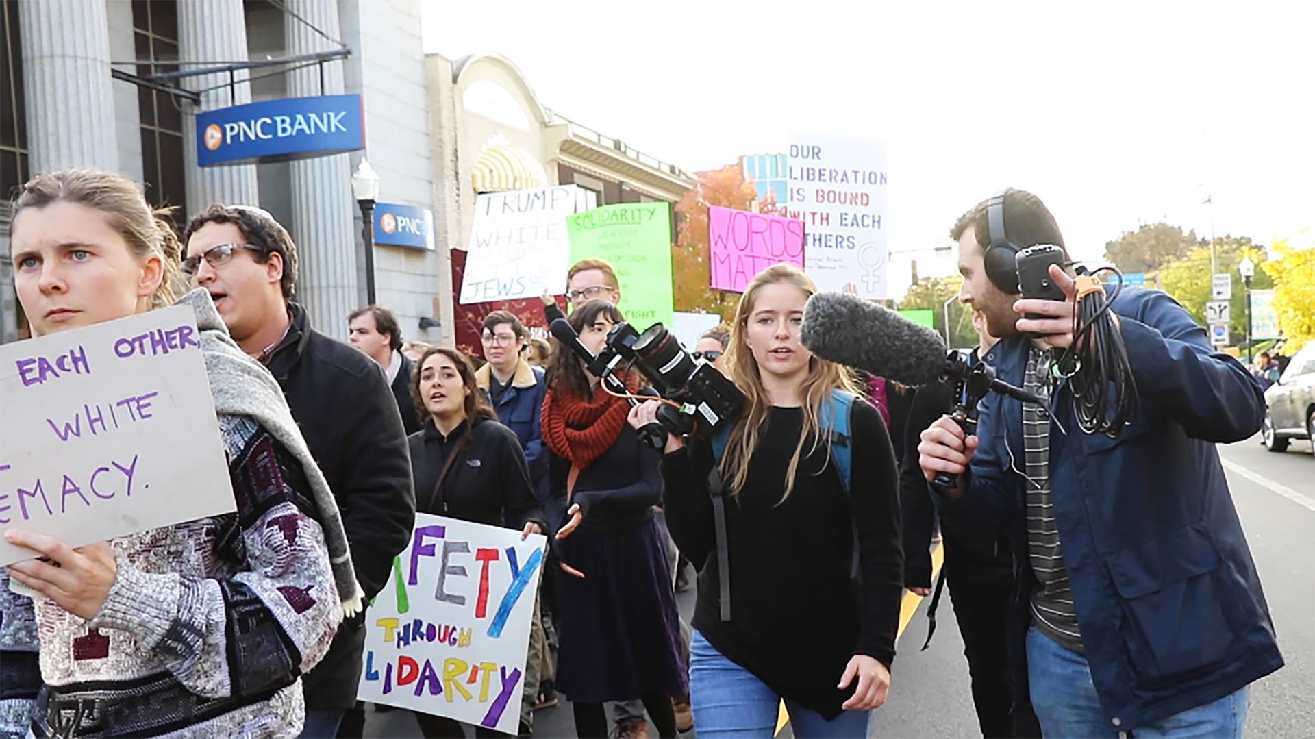 While researching for their senior thesis, Director McKinleigh Lair and Producer Josh Jacobius observed protests in Pittsburgh, PA following the Tree of Life synagogue shooting.